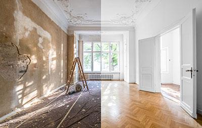 Renovierung vorher nachher